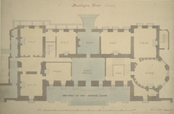 Burlington House, Piccadilly, the plan of the ground floor